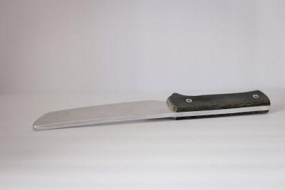 dojo training knives aluminum tanto angled blade up